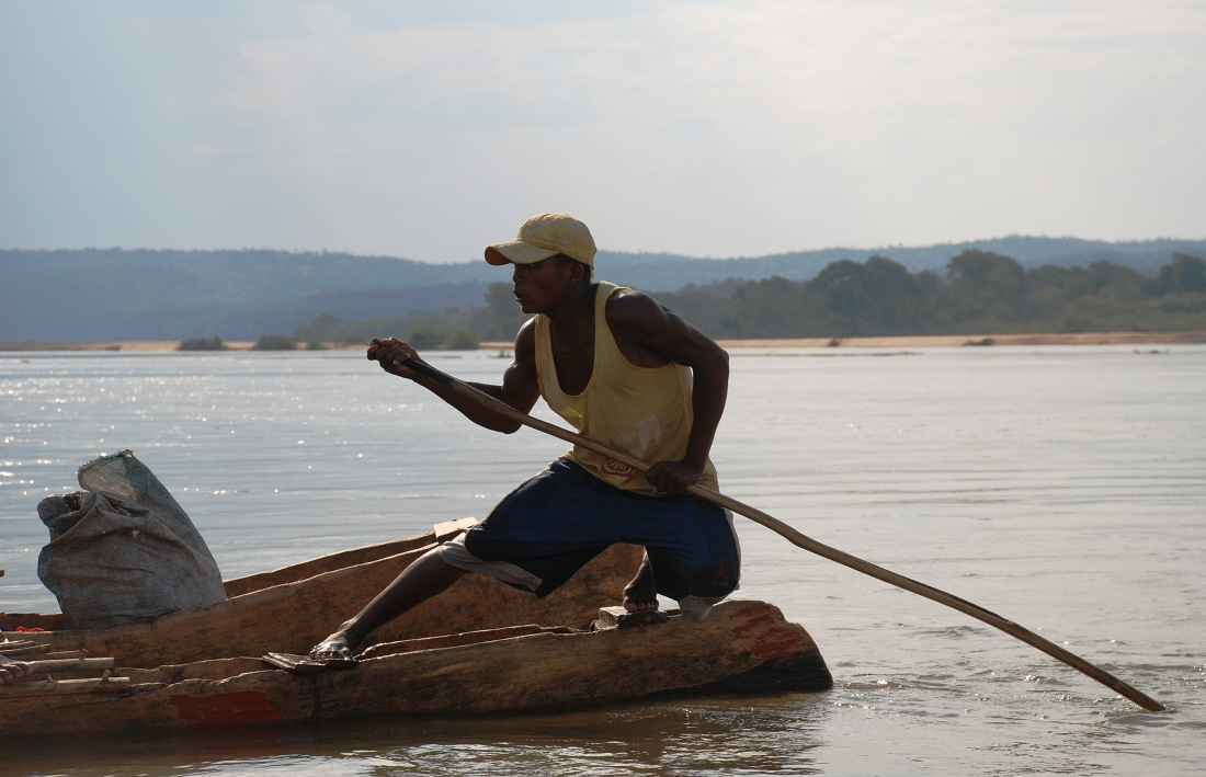 A trip I took down the Mangoky river in Madagascar. Harder for this guy than it was for me...
